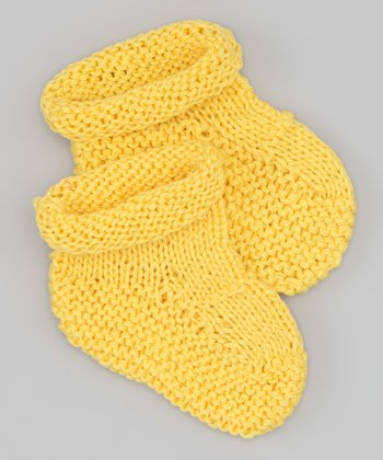 Yellow Knit Booties