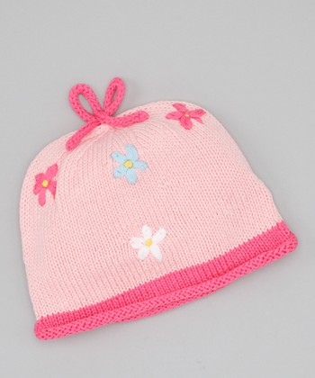 Pink Flowers Galore Beanie