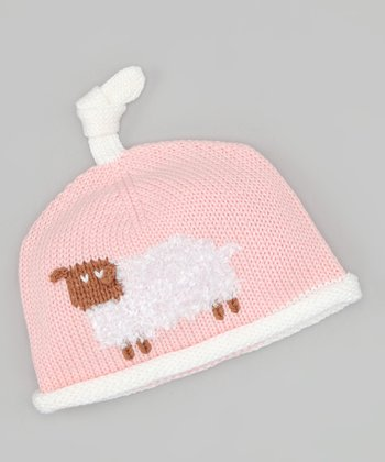Light Pink Little Lamb Beanie
