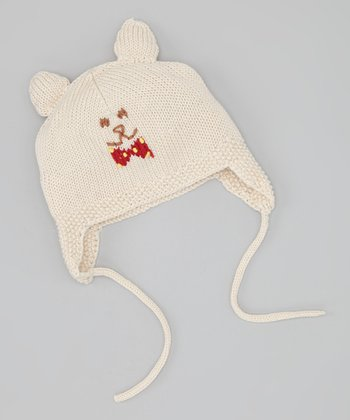Light Brown Bear Earflap Beanie