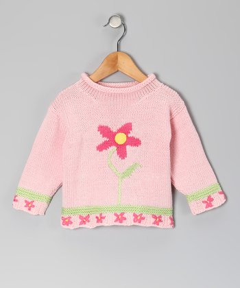 Pink Lazy Daisy Sweater - Infant