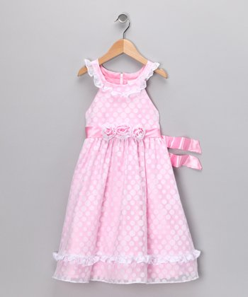 Pink Polka Dot Dress - Toddler