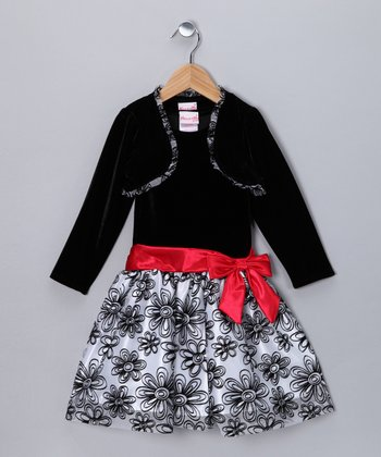 Black Flower Dress & Bolero - Infant & Toddler