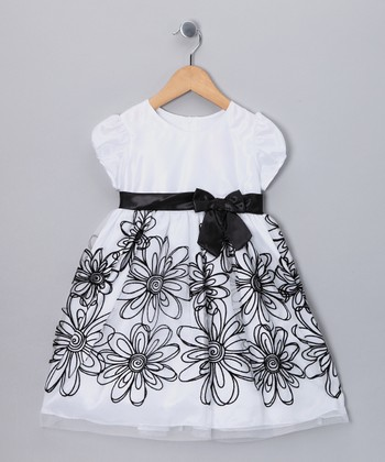 White Flower Dress - Toddler