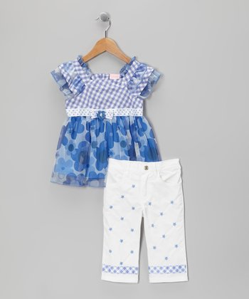 Blue Gingham Tunic & Pants - Infant