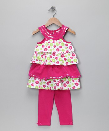 Pink Ruffle Tunic & Leggings - Toddler