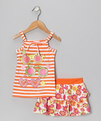 Orange Sunglasses Tank & Skirt - Infant & Toddler