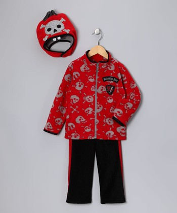 Red 'Back Stage Pass' Jacket Set - Infant