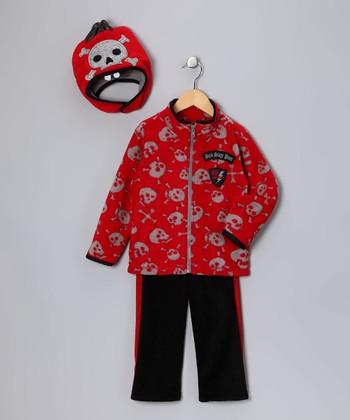 Red 'Back Stage Pass' Jacket Set - Infant & Toddler