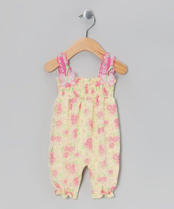 Yellow Floral Romper - Infant