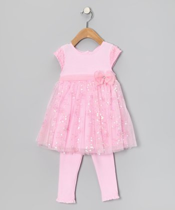 Light Pink Sparkle Dress & Leggings - Infant
