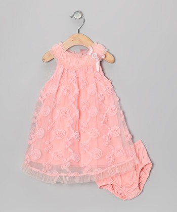 Pink Yoke Dress & Diaper Cover - Infant