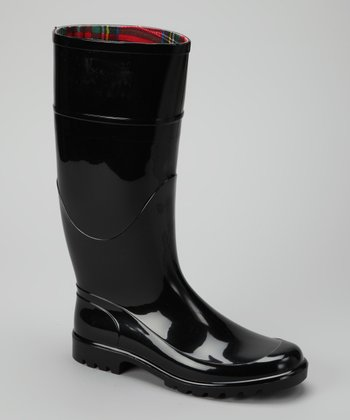Black Signature Rain Boot