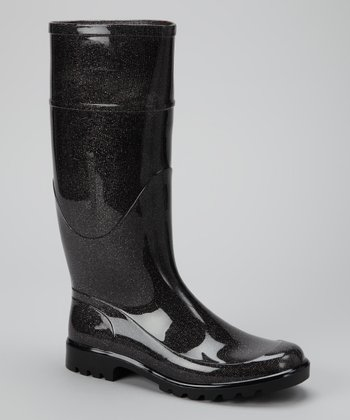 Metallic Gray Signature Rain Boot