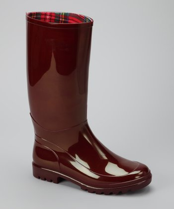 Red Signature Wide-Calf Rain Boot