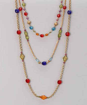 Green & Red Bead Necklace