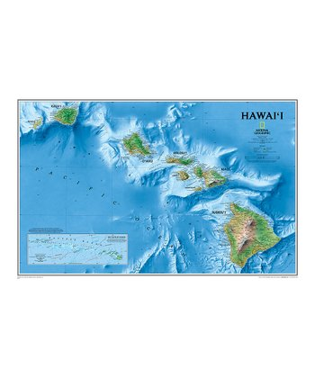Hawaii Laminated Map