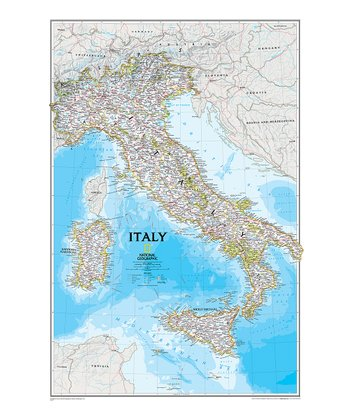 Italy Classic Laminated Map