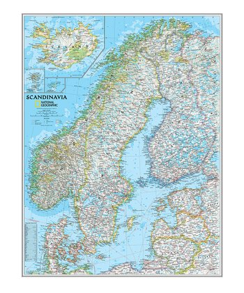 Scandinavia Classic Laminated Map