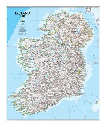 Ireland Classic Laminated Map