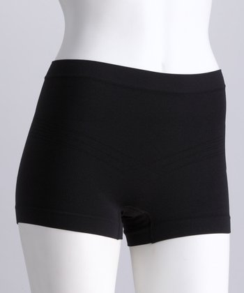 Black Seamless Shaper Shorts - Women