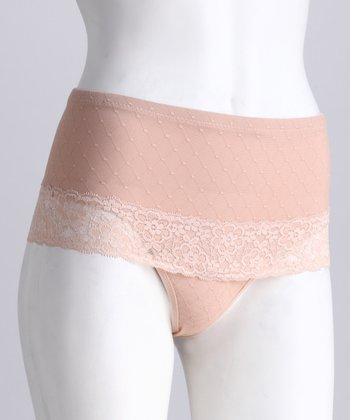 Nude Lace Shaper Thong - Women & Plus