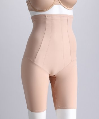 Nude High-Waist Shaper Shorts - Women & Plus