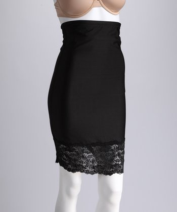 Black Lace High-Waisted Shaper Slip - Women & Plus