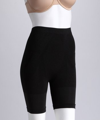 Black Seamless Control Shaper Shorts - Women & Plus