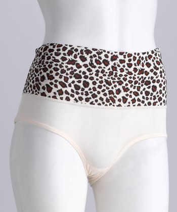 Nude Leopard Shaper Briefs - Women & Plus