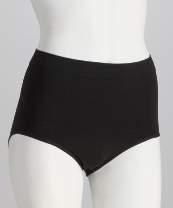 Black Seamless Control Shaper Briefs - Women