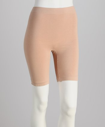 Nude Seamless Shaper Bike Shorts - Women