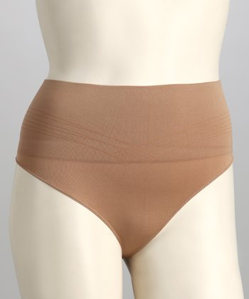 Nude Seamless Low-Rise Shaper Thong - Women