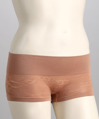 Brush Lace Seamless Shaper Boyshorts - Women