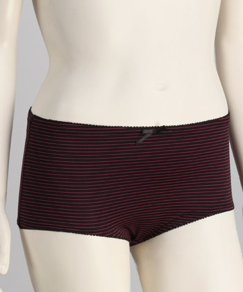 Black & Fuchsia Microfiber Shaper Briefs - Women & Plus