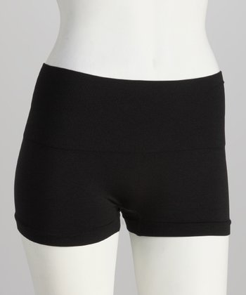 Black Seamless Control Shaper Boyshorts - Women