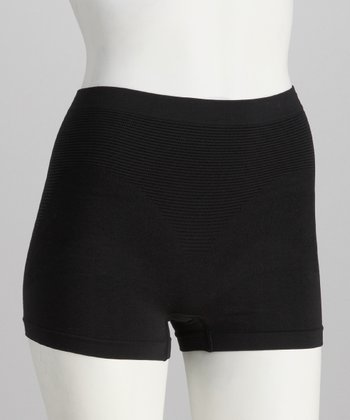 Black Seamless Firm Control Shaper Shorts - Women