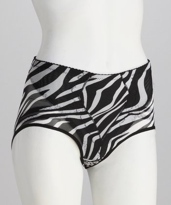 Zebra Power Mesh Shaper Briefs - Women