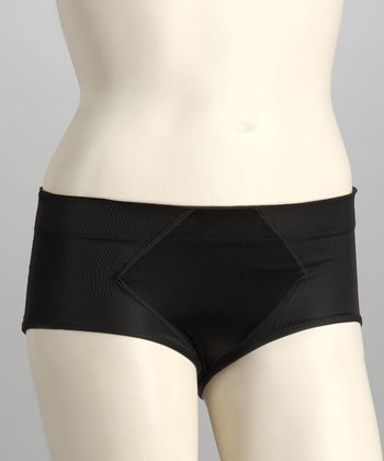 Black Satin Shaper Briefs - Women & Plus