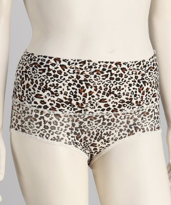 Leopard Microfiber Shaper Briefs - Women
