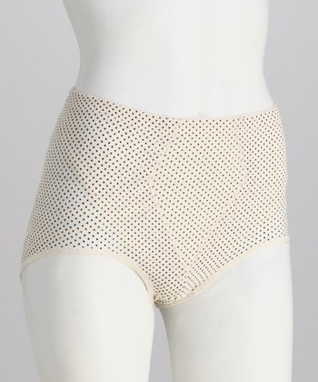 Nude & Black Power Mesh Shaper Briefs - Women & Plus
