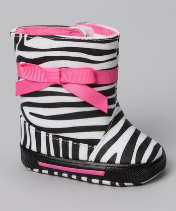 Black & White Lil' Zee Boot