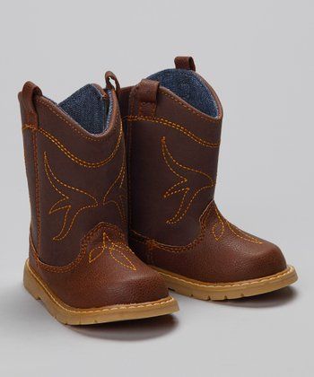 Brown & Denim Clyde Cowboy Boot