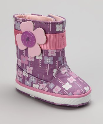 Pink & Purple Lil' Orchid Rain Boot