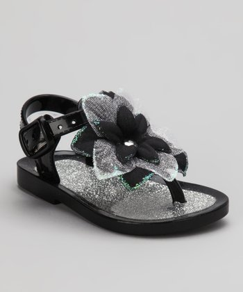 Black Blossom Sandal - Infant