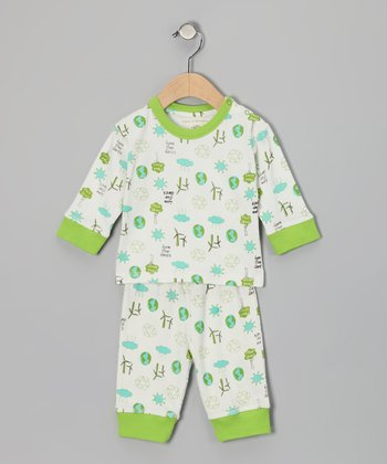 White Love Earth Dylan Organic Top & Pants - Infant
