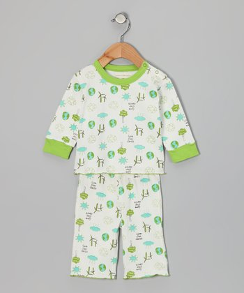 White Love Earth Caden Organic Top & Pants - Infant