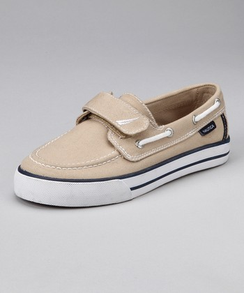 Tan Little River Boat Shoe - Kids