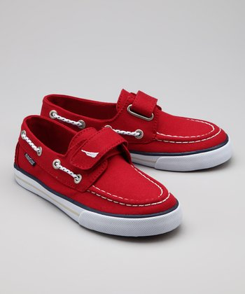 Red Little River Boat Shoe