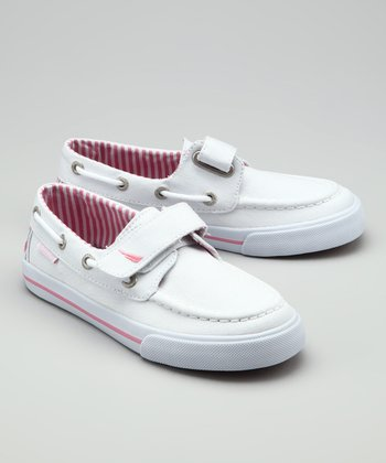 Nautica White Little River Boat Shoe